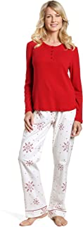 Noble Mount Twin Boat Womens Cotton Flannel Lounge Set
