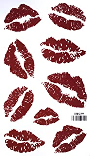 Red Lip Temporary Tattoo Stickers Sexy Tattoos Waterproof Tattoo Stickers