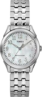 Timex Women's Tw2R48300 Briarwood Silver Tone Mop Stainless Steel Expansion Band Watch