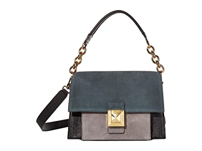 Furla Diva Small Shoulder Bag (Ottanio/Onyx/Asfalto) Shoulder Handbags