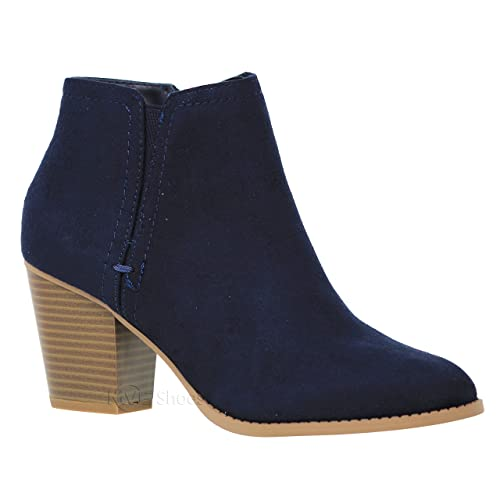 84e08fbd911 MVE Shoes Women s Chunky Heel Strappy Almond Toe Ankle Boots