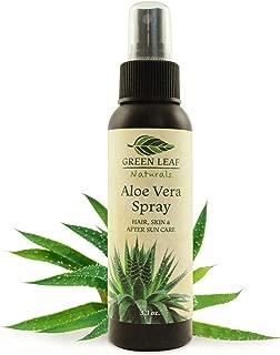 Travel Size Aloe Vera Spray - Pure, Natural, Organic - 3.3 oz - by Green Leaf Naturals