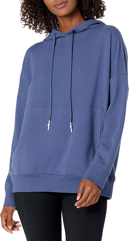 Amazon Brand - Core 10 Women's Soft Cotton Modal Oversized Relaxed Fit Sweatshirt Hoodie