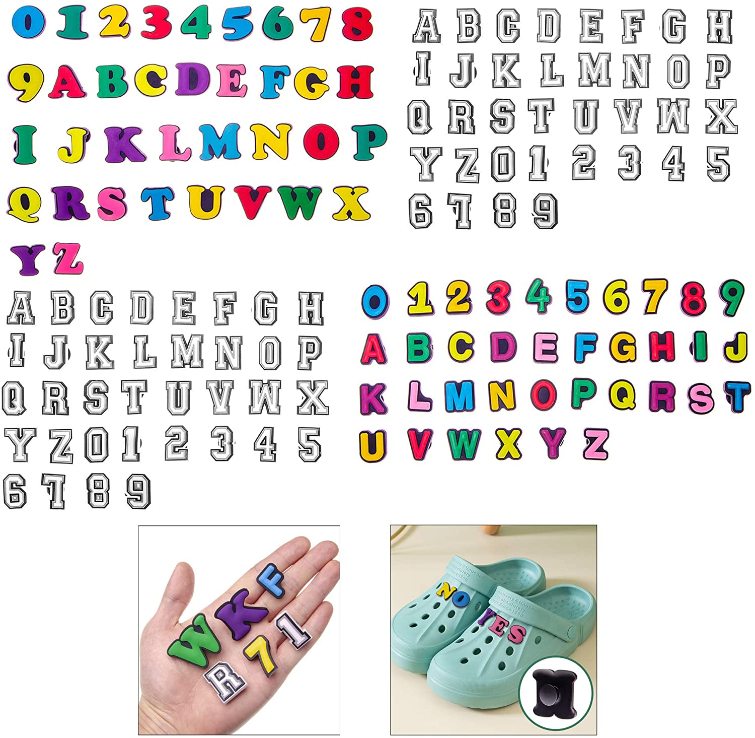 Wehhbtye 144PCS Letter Houston Mall cheap Number Shoe N Charms-Colorful and Letters