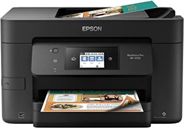 Epson WorkForce Pro WF-3720 Wireless All-in-One Color Inkjet Printer, Copier, Scanner with Wi-Fi Direct, Amazon Dash Replenis