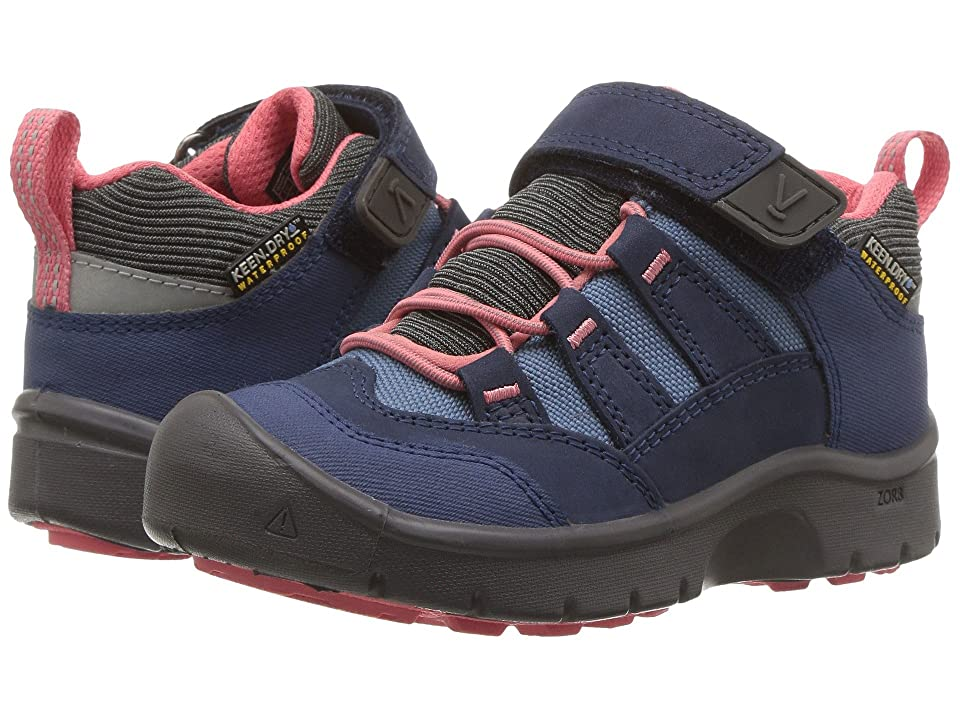 Keen Kids Hikeport WP (Toddler/Little Kid) (Dress Blues/Sugar Coral) Girls Shoes