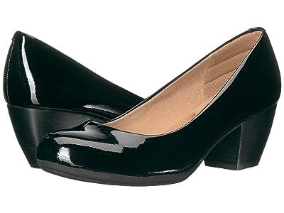 Comfortiva Amora (Black Goat Patent) High Heels