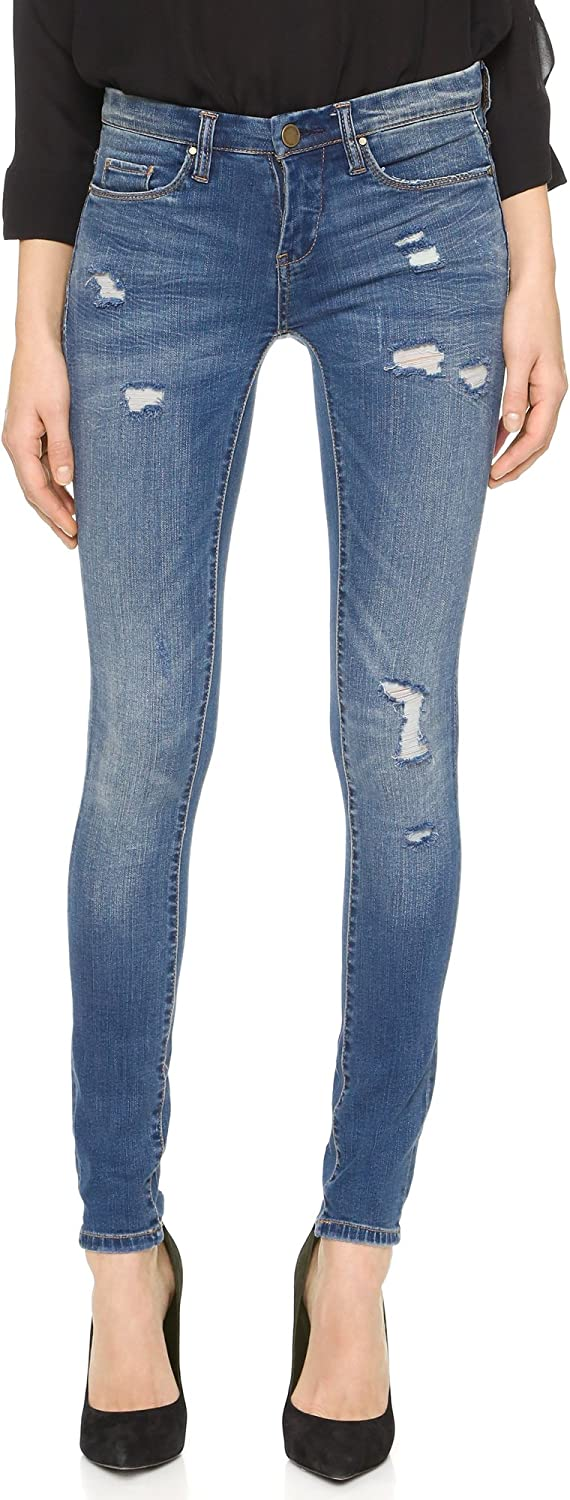 [BLANKNYC] Womens Juniors Distressed Classic Skinny Jeans