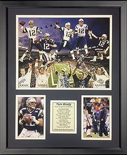 Legends Never Die Tom Brady Super Bowl Champion NFL New England Patriots 2016 5X Framed Photo Collage, 16