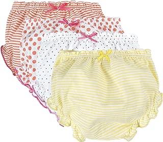 BIG ELEPHANT Unisex Baby Toddler 4 Pack Cute Cotton Panties Underwear B78