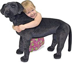 Melissa & Doug Black Lab Giant Stuffed Animal (Wildlife, Soft Fabric, Beautiful Black Lab Markings, 30.5