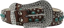 M&F Western - Turquoise Stone Snake Belt