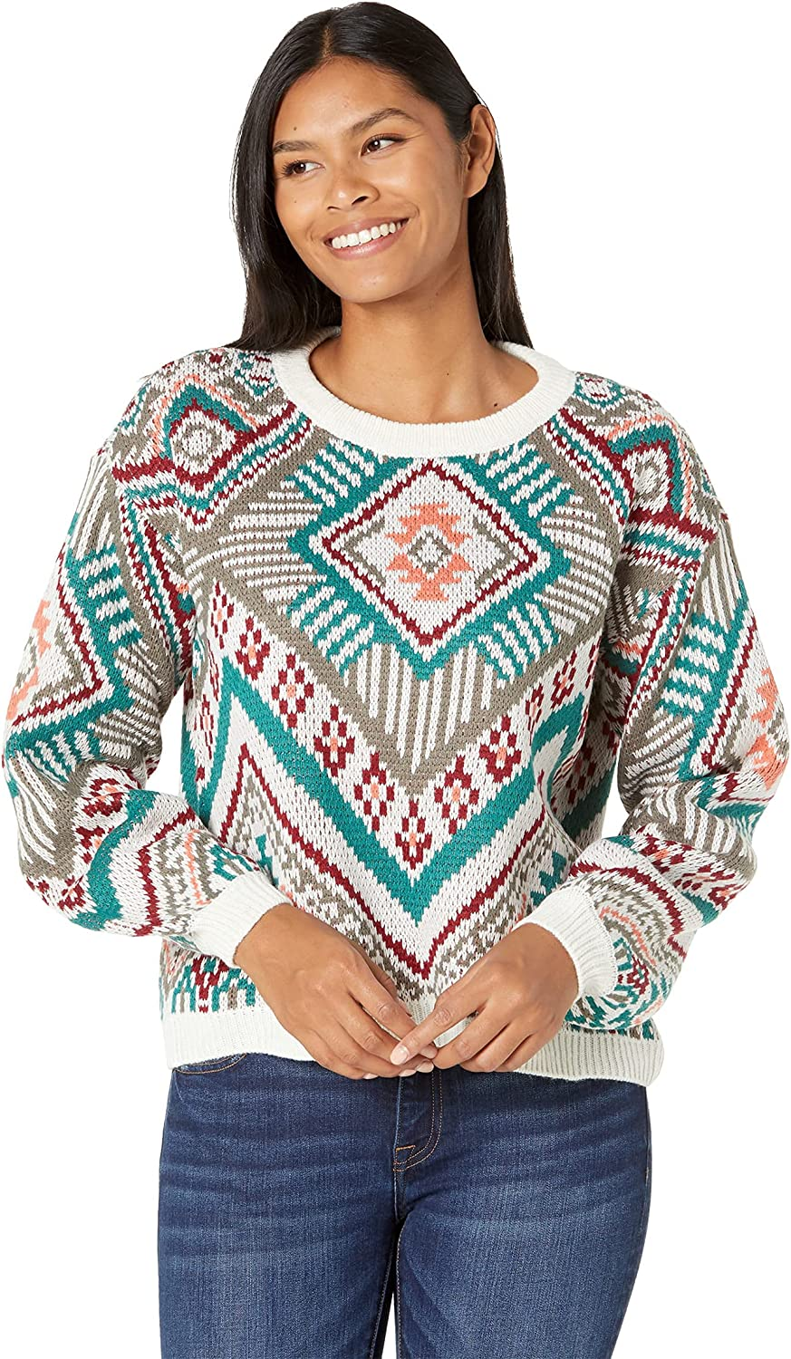 Rock and Roll Cowgirl Long Sleeve Sweater 46-1169