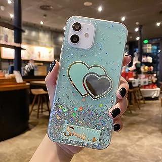 جراب Mylne Glitter لهاتف Samsung Galaxy A02، جراب ناعم ونحيف من السيليكون واقٍ لطيف وبراق ونجمة ممتص للصدمات للفتيات والنساء