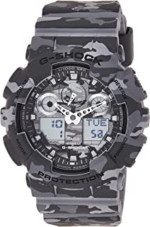 Casio Men's Analog/Digital Quartz Watch With Resin Strap Ga-100Cm-8Aer, Grey Band