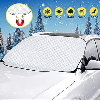 220x130CM Eisschutz//Frostschutz Frontscheibe Abdeckung Windschutzscheibe Frostabdeckung Autoscheibenabdeckung mit Magnet Winter Frontscheibenabdeckung Auto Scheibenabdeckung Magnetisch