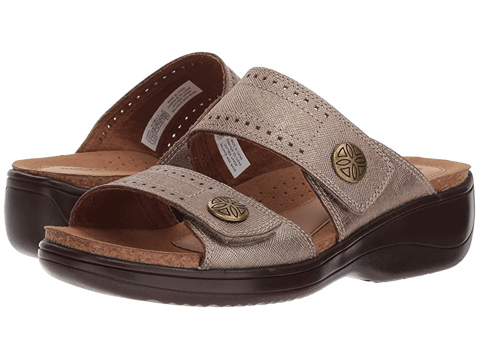 Rockport Cobb Hill Collection Cobb Hill Maisy 2 Band (Dove Metallic) Women