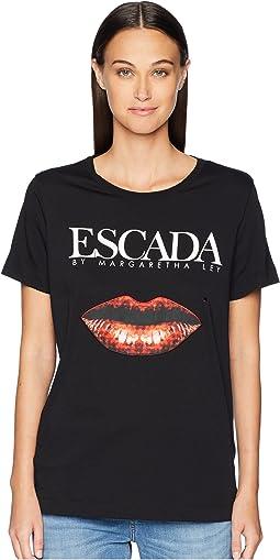 Elabio Short Sleeve Logo Lips Tee