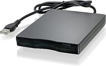 CSL - Disquetera Externa USB FDD 1,44 MB 3,5 Pulgadas - PC y Mac - Slimline Floppy Disk Drive Extern - portátil - Plug y Play - en Negro - para Windows 10