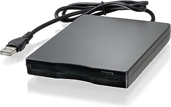 CSL - Lettore Floppy Esterno USB FDD 1,44MB 3,5 Pollice - PC e Mac - Slimline Floppy Disk Drive Esterna - Portatile - Plug e Play - Nero - Compatibile con Windows 10