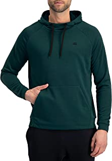 Dry Fit Mens Hoodies Pullover - Workout Sweatshirts for Men w/Adjustable Hoodie