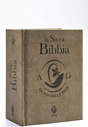 La Sacra Bibbia. La via della Pace. Edizione piccola in ecopelle tortora