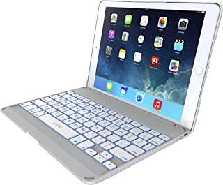 ZAGG Folio Case, Hinged with Backlit Bluetooth Keyboard for iPad Air 2 - White