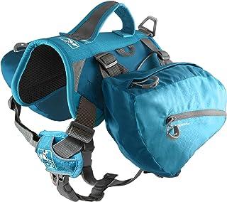 Kurgo Baxter Hundryggsäck, hundsadel, husdjursryggsäck för vandring, promenader eller camping, kustblå – stor (L)
