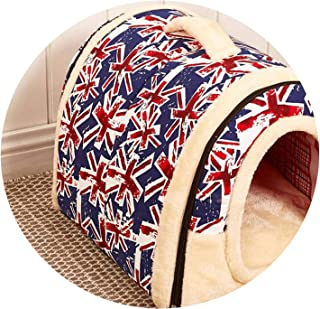 headstream_krystal New Folding Doghouse Doggie Bed Dog and cat pet House can Remove and wash pet beds for Fall and Winter
