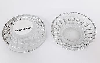 takestop/® Set 4 Pezzi POSACENERE Ceramica Bianco Tondo 9CM Diametro Spessore 3CM PORTACENERE Posa Cenere Porta Cenere Rotondo