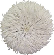 Old World Shoppe Large White Juju Hat - Wall Decor Feather Headdress - 31
