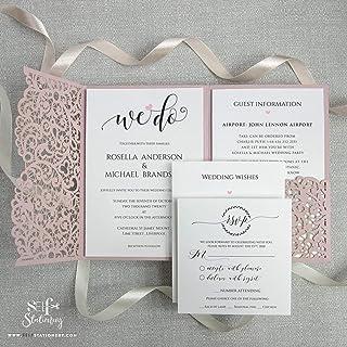 Rosa Mate Invitaciones de boda Tarjetas y sobres La tarjeta lo invita a una fiesta de compromiso de Quinceañeras, cumpleañ...