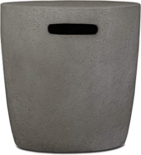 Real Flame 564-GLG 564 Riverside 20lb. Propane Tank Cover, Glacier Grey