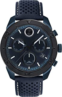Men's BOLD Sport PVD Chronograph Watch with a Printed Index Dial, Black/Blue (Model 3600516)