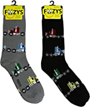 Foozys Men's Crew Socks | Fun Automotive - Going Places Novelty Socks | 2 Pair