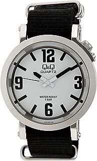 Q&Q Men's White Dial Nylon Analog Watch - Q758J304Y