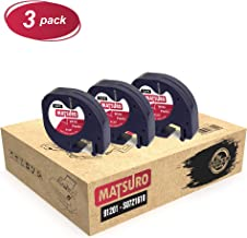 Matsuro Original | Compatible Plastic Label Tapes Replacement for DYMO LetraTag 91201 S0721610 S0721660 Black on White (12 mm x 4 m | 3 Pack)