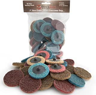 DocaDisc 30PC - 2 inch Roloc Sanding Disc Mixed Pack // Surface Conditioning Disc // Roloc Disc // Air Grinder Disc for su...
