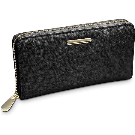 """TRAVANDO ® Geldbörse Damen mit RFID Schutz """"Venice"""" - Geldbeutel groß, Portemonnaie lang, Portmonee, Brieftasche, Damengeldbeutel, Damenbörse, Damengeldbörse, Damenportemonnaie, Wallet Geschenk"""