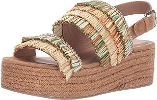 Chinese Laundry Women's Zuzu Espadrille Wedge Sandal, Olive Multi, 10 M US