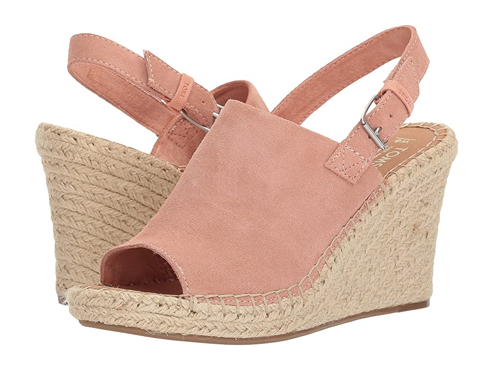 TOMS Monica (Bloom Suede) Women's Wedge Shoes