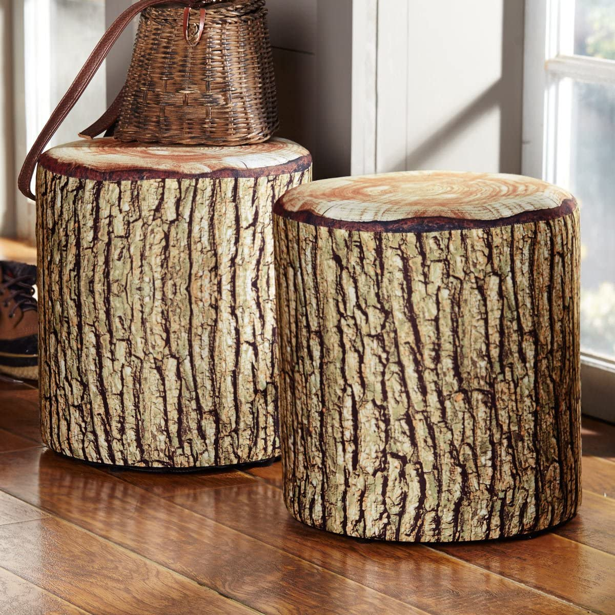 BLACK FOREST DECOR Cushioned Log Cheap sale Tree Bark Max 76% OFF Seat