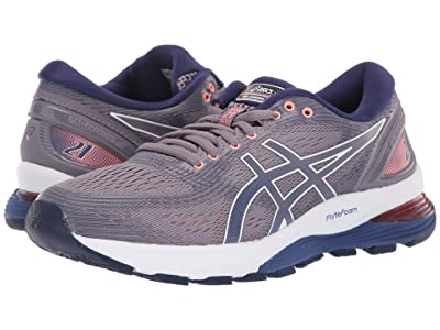 ASICS GEL-Nimbus(r) 21 (Lavender Grey/Dive Blue) Women