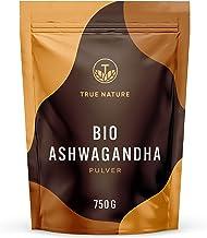 TRUE NATURE Bio Ashwagandha Pulver 750g - Einführungspreis - Indische Bio Schlafbeere Withania Somnifera aus kontrolliert biologischem Anbau - Vegan, Laborgeprüft, Deutsche Produktion