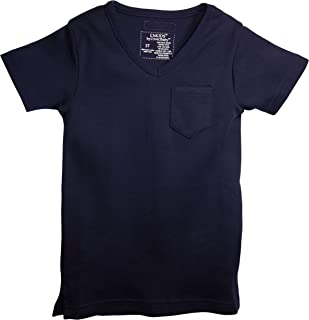 L'ovedbaby Organic Cotton V-Neck Short-Sleeve Baby T-Shirt (0-3 Months, Navy)