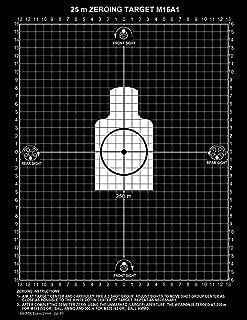PlusTactical M16A1 25 Meter Zeroing Target On EZ Peel Notepad