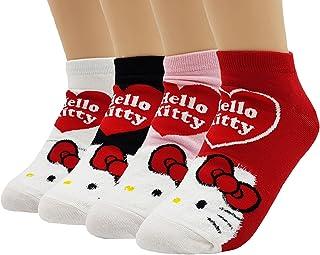 Mujer Hello Kitty Colección linda mezcla de algodón calcetines