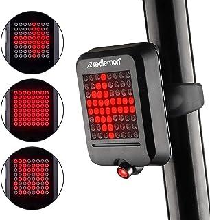 Redlemon Luz de Bicicleta Trasera Inteligente, Freno y Direccionales Automáticas, Láser de Carril, Resistente al Agua, 64 ...