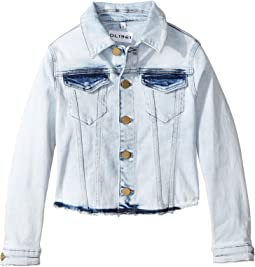 DL1961 Kids - Acid Rinse Denim Jacket with Angled Hem (Big Kids)