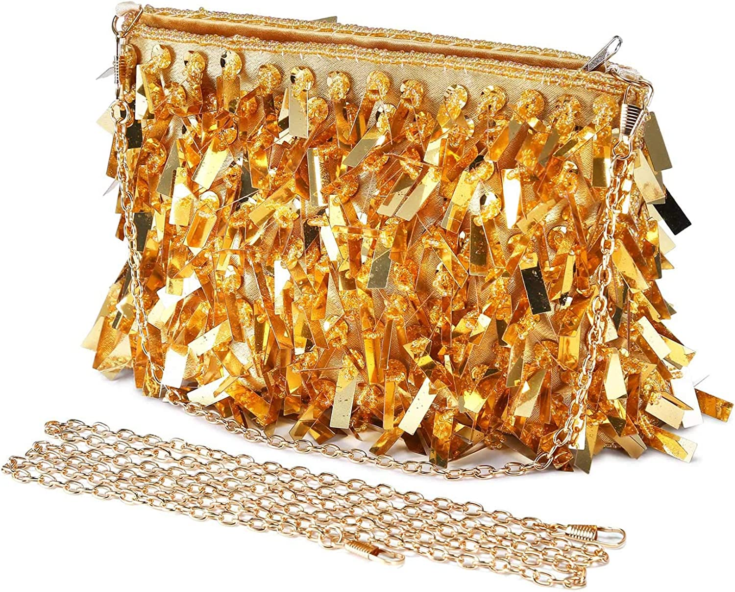 UBORSE Women Sequins Clutch Evening Bags Beaded Shining Wedding Cocktail Party Purse